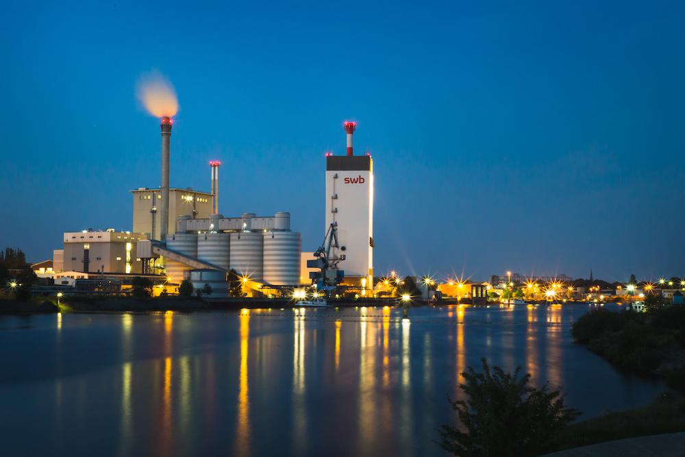 swb-Kraftwerk am Weserwehr Bremen.